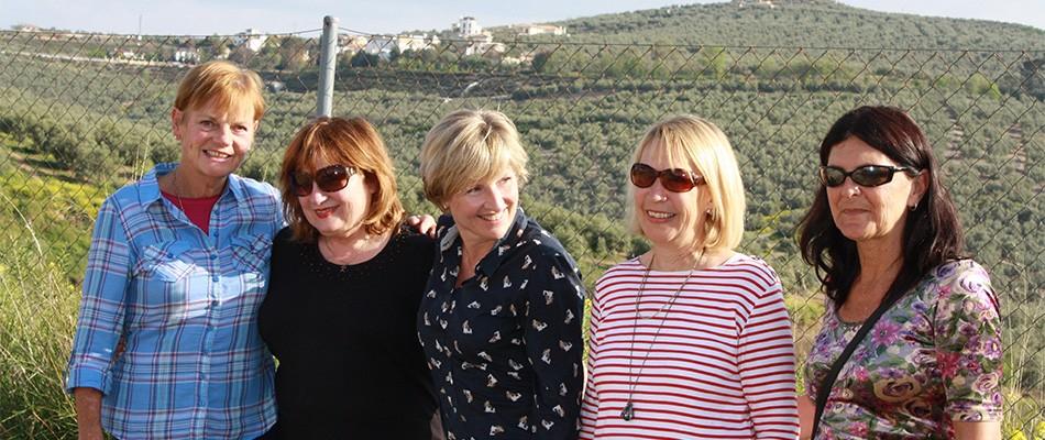 The Funraisers: Shirley, Catherine, Gaynor, Jenny, Toni